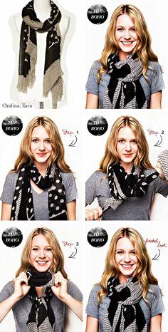 cute way to wear a scarf
