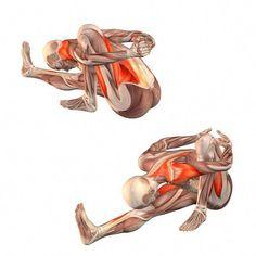 Sage twist right - Marichyasana with bend to right leg Sup Yoga, Bikram Yoga, Ashtanga Yoga, Yoga Fitness, Fitness Workouts, Workout Exercises, Yoga Pilates, Yoga Moves, Yoga Muscles