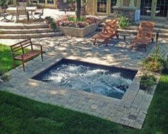 Inground Hottubs On Pinterest Hot Tubs Spool Pool And
