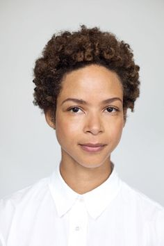 """Short Hair means you need to up your brow game! http://www.refinery29.com/natural-hairstyle-pictures-inspiration#slide-4  """"When women have dense, tight curls the classic approach is to cut it into a spherical shape. But I like to see how the hair acts naturally and cut a more erratic, organic shape that fits the hair and its personality,"""" says Wes Sharpton, stylist at Hairstory Studio...."""
