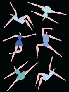 Jesse Eisenberg's mother explains the ballet to him, makes every ballet fan's day (illustration by Olimpia Zagnoli for The New Yorker)