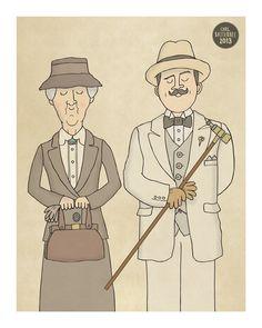 The Detectives - Miss Marple, Sherlock Holmes, Hercule Poirot Art Print by Carl Batterbee Illustration. Hercule Poirot, Agatha Christie's Poirot, Sherlock Holmes, Mrs Marple, Illustration Art, Illustrations, Desenho Tattoo, Arthur Conan Doyle, Murder Mysteries
