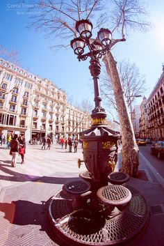 La Font de Canaletes. If you drink water from this fountain, you will return to Barcelona they say... I drank from this but haven't returned YET