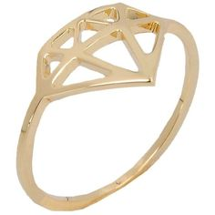 Nadine S Ring ($45) ❤ liked on Polyvore featuring jewelry, rings, accessories and gold