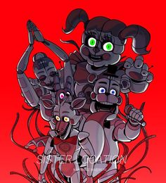 Funtime Foxy looks like he's seen some things he can't un-frickin-see 😂😂😂 Five Nights At Freddy's, Ballora Fnaf, Fnaf Wallpapers, Snake Art, Funtime Foxy, Fnaf Sister Location, Circus Baby, Fnaf Characters, Freddy Fazbear
