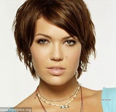 Mandy Moore is why I have always wanted a pixie cut -- or I guess a really short shag.