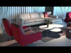 Italsofa in the Natuzzi showroom at High Point Market, Spring 2011, Part 2. By Chris Sparks, Editor of InteriorDesignVIP.com