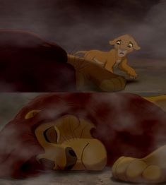 When Simba approaches Mufasa's dead body, the camera shows Mufasa from the back and his paw is clearly past his nose. But when are then shown him face on, his paw has moved to the same level as his nose.