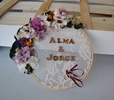 porta alianzas bouquet azul