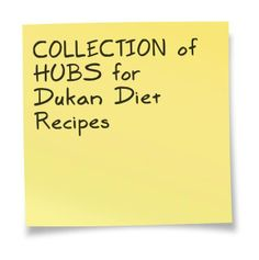 COLLECTION of HUBS for Dukan Diet Recipes