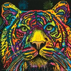 Buy Dean Russo Tiger Modern Animal Decorative Art Poster Print 12x12 in Cheap Price on m.alibaba.com