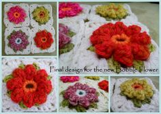-^^-  FREE HOW TO pattern  ---  crochet a lovely flowery granny ... if you know how to make a treble cluster