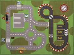 "From TREVOR to TRISTIAN & TRACE- $4 Natco Kid's Play Road Rug 40"" x 50"" at Menards®: Natco Kid's Play Road Rug 40"" x 50"""