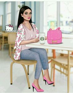 Beautiful Girl Drawing, Cute Girl Drawing, Cartoon Girl Drawing, Girl Cartoon, Pop Art Wallpaper, Cute Girl Wallpaper, Sarra Art, Girly M, Lovely Girl Image