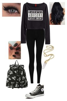 """""""Untitled #828"""" by bsalvinski6364 on Polyvore featuring M&S Collection, Converse, Bulgari, women's clothing, women's fashion, women, female, woman, misses and juniors"""