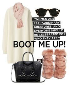 """boot me up"" by omahtawon ❤ liked on Polyvore featuring Uniqlo, Gianvito Rossi, Givenchy, Maison Margiela and Free People"