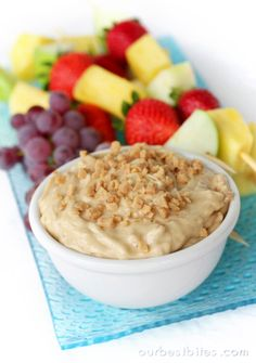 Caramel Toffee Fruit Dip | Our Best Bites | Best with apples. #gfcommunity