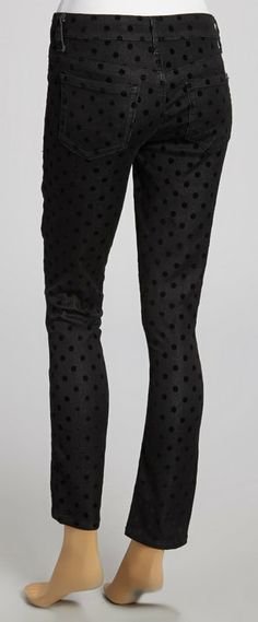 Black Polka Dot Skinny Jeans. I would wear these pants to death! :)