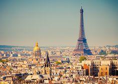 Paris in sunset