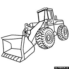 100% Free Trucks and Construction Vehicle Coloring Pages. Color in this picture of a Front End Loader and others with our library of online coloring pages. Save them, send them; they're great for all ages.