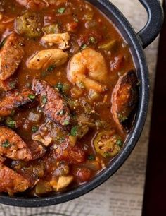 """Gumbo-laya"" With Spicy Sausage, Chicken"