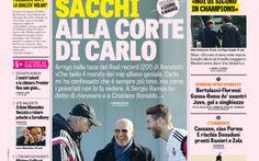 RASSEGNA STAMPA, Sacchi da Ancelotti ecco cosa si sono detti. Oggi riprende la Serie A.: la prima pagina della Gazzetta #seriea #calcio #roma #juventus #inter