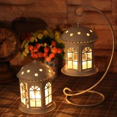 Classic tieyi white telephone booth windproof mousse lantern candle accessories gift