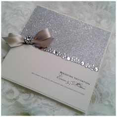 All That Glitters « Crystal Couture Luxury Wedding Stationery Norfolk UK Award Winning Luxury Wedding Invitations Glitter Wedding Invitations, Wedding Invitation Samples, Wedding Stationery, Invitation Cards, Handmade Wedding, Diy Wedding, Dream Wedding, 16th Birthday Card, Pearl Party