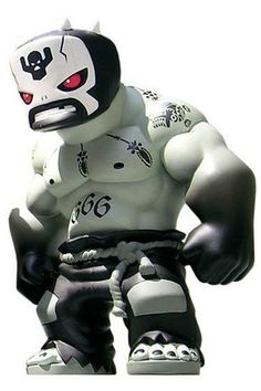 Tequila - El Brujo Narco Satanico figure by Frank Kozik, produced by Muttpop. Front view.