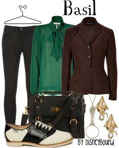 """Love looking at Disneybound concepts. """"The Great Mouse Detective"""" was always a favorite. Plus, I have these shoes."""
