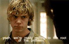 Hot Angry Tate is Hot  #TateLangon  #AHS. you have to watch it to know why i thought it was funny