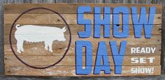 Items similar to Livestock Show Day Wooden Signs - steer shown on Etsy Pig Showing, Show Goats, Boer Goats, Country Girls, Country Living, Showing Livestock, Cute Signs, 4 H, Wooden Signs