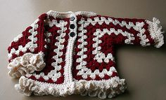 [Free Pattern] Easiest Way Ever To Make A Cute Hexagon Baby Jacket With Ruffles!