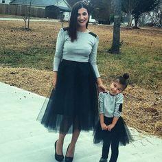 tulle skirt Mommy and Me skirt Matching skirts Black por EllaEman