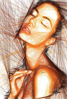 Female Portrait Digital Art by Rafael Salazar