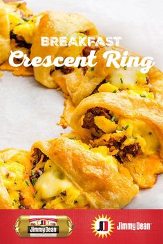 This sun-shaped wreath of crescent roll deliciousness makes mornings even better. The melted layer of cheese atop the savory Jimmy Dean Premium Pork Sausage, surrounded by a crispy, flaky exterior sets up a filling flavor journey. Breakfast Time, Breakfast Dishes, Best Breakfast, Breakfast Recipes, Breakfast Wraps, Breakfast Casserole, Breakfast Ideas, Brunch Recipes, Appetizer Recipes