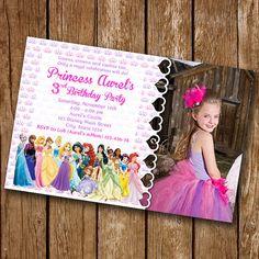 Invitación de princesa de Disney invitación por luxuriouspixel