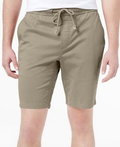 American Rag Men's Classic-Fit Stretch Solid Drawstring Shorts, Only at Macy's  - Tan/Beige 2XL