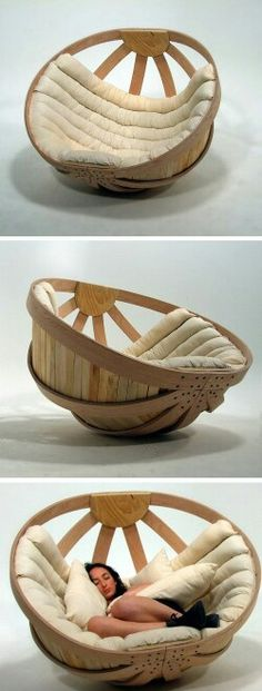 Cradle chair. Looks so comfy...