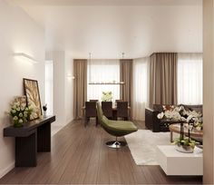 Természetes, meleg hangulat, bézs, barna árnyalatok egy elegáns, modern lakásban - Lakberendezés trendMagazin