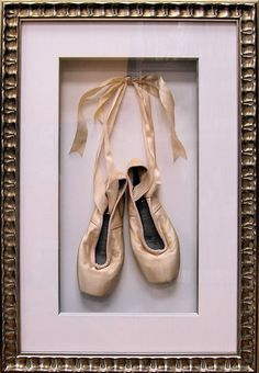 Would love to do this with an old pair of my pointe shoes for a girls nursery