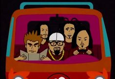 "Korn are an American nu metal band who appeared in the Season Three episode, ""Korn's Groovy. Parking App, Jonathan Davis, Where Is My Mind, Theatre Problems, Nu Metal, Ramin Karimloo, Sierra Boggess, Idina Menzel, Axl Rose"