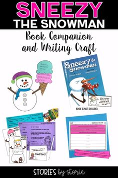 Are you reading Sneezy the Snowman this winter? Do you need activities to pair with the story? This book companion contains comprehension questions, a sequencing activity, vocabulary activities, graphic organizers, and a snowman craft that can be used in many ways.