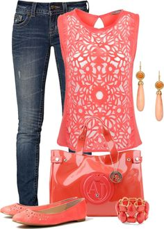 """Miss Me and Coral"" by lisa-holt ❤ liked on Polyvore"