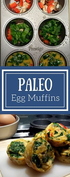 #paleo #eggmuffins with spinach, ground turkey, spinach, bell peppers, and onions.