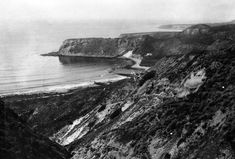 (Early 1900s)* - Panoramic view showing the coast of the Palos Verdes Peninsula. Portuguese Bend, in Rancho Palos Verdes, is seen in the foreground.
