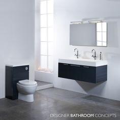 Envy Designer Double Basin Anthracite Bathroom Vanity Unit