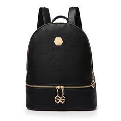 New 2017 Feminine Backpack Pure Color PU Leather Backpacks For Middle School Girls All-Match Brand Backpack Women