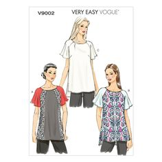 V9002 Vogue Schnittmuster zum Nähen, Elegant, Extravagant, Modisch