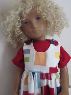 SAILING SUIT ( s)- Clothes for Boy or Girl Sasha Dolls designed by Swiss Doll artist Sasha Morgenthaler. Sasha and Gregor dolls and their clothing are becoming very difficult to acquire in this new unplayed-with and well-cared for condition. Sasha Doll, Thing 1, Clay Dolls, Curly Wigs, Handmade Clothes, Boy Outfits, Boy Or Girl, Doll Clothes, Friends